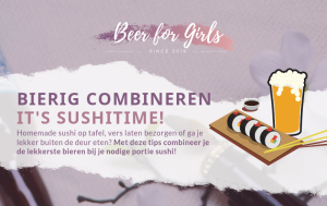 tips bij bier en sushi beer and sushi